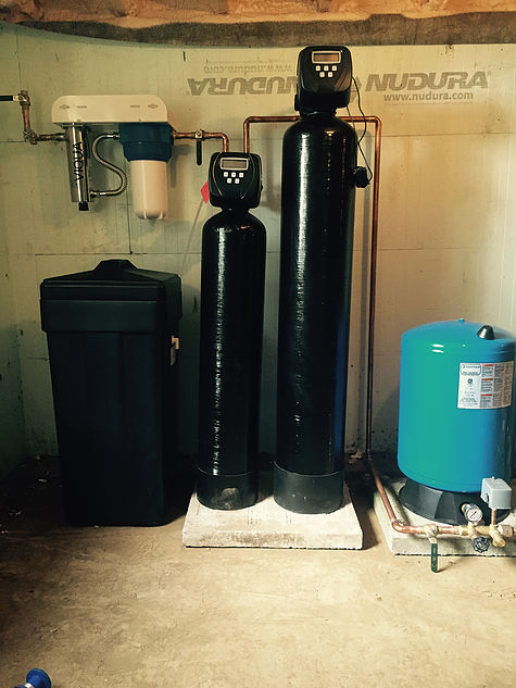 New pressure tank, iron filter, water softener and uv system.